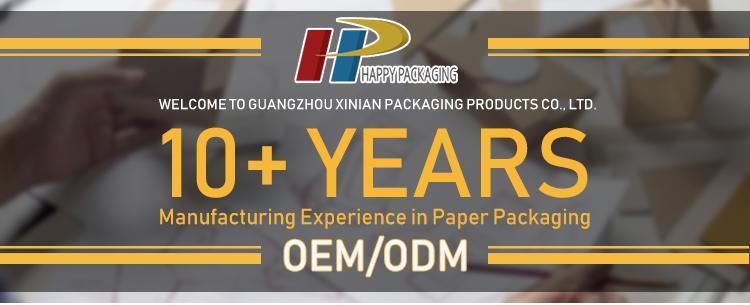 Packaging boxes manufacturer Big Corrugated box with big window E flute corrugated board box carton