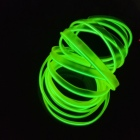 Cheap! LED Strip EL Wire Tube Rope Flexible Neon Light 2.3mm-skirt 1 Meter green Car Inside Decoration