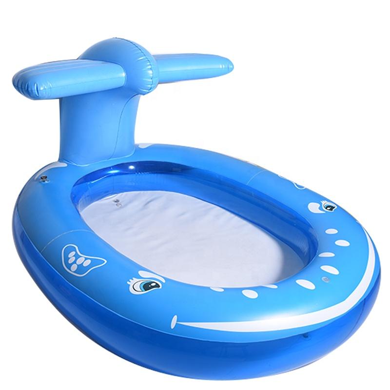पी एंड डी नीले मछली आकार तैरने खेलने के लिए पूल बच्चों, बड़ा पूल