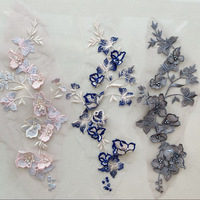 lace applique cloth New embroidery flower floral collar flowers Hot for wedding party dresses dedicated dress