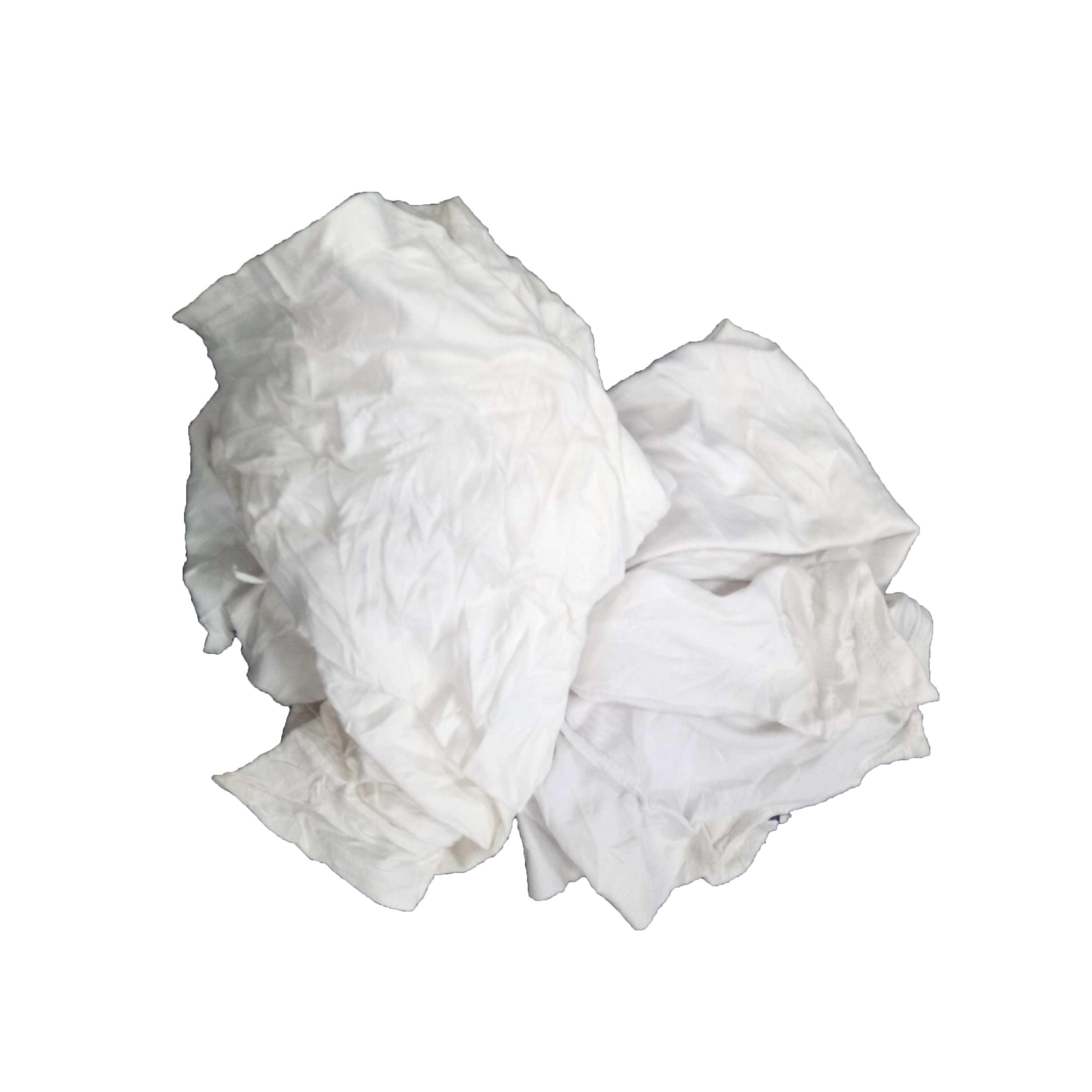 White t shirt waste knitted cutting bales 100% cotton wipe rags