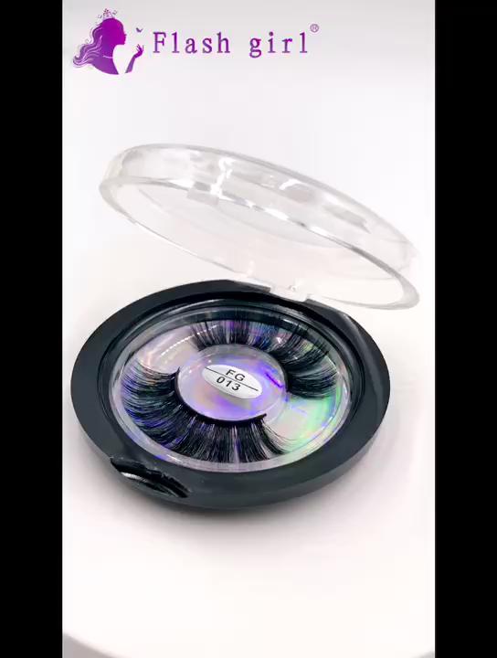 จัดส่งฟรี FG Series FG004 3D ขนตาปลอม 1 คู่ Fluffy Full Strip ขนตา