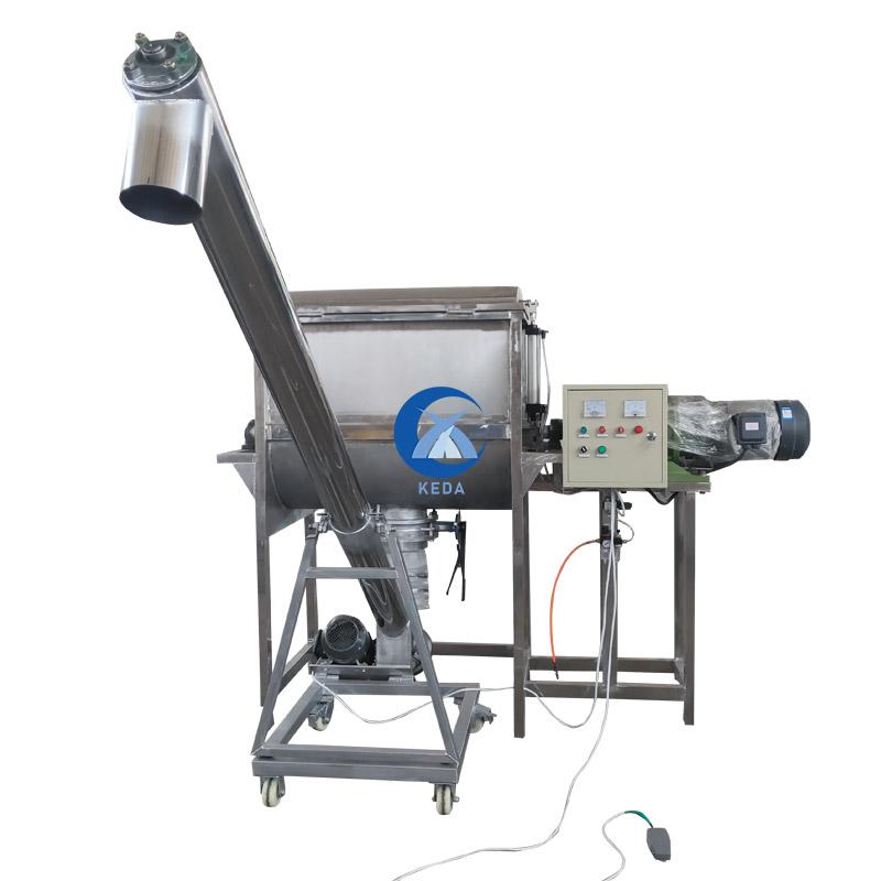 Precio de fábrica horizontal doble helicoidal cinta polvo horizontal licuadora DE LA INDUSTRIA mezclador de cemento con las líneas de producción