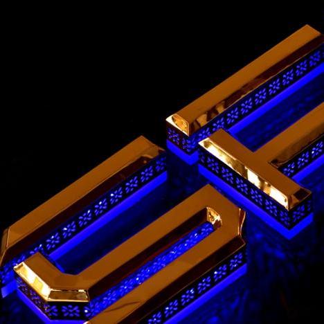 Cinese Su Ordinazione Buon Design In Acciaio Inox Retroilluminato Lettere luminose