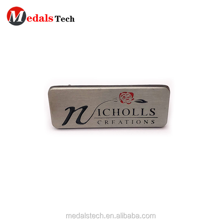 Customized logo silver plating thin sport metal plate