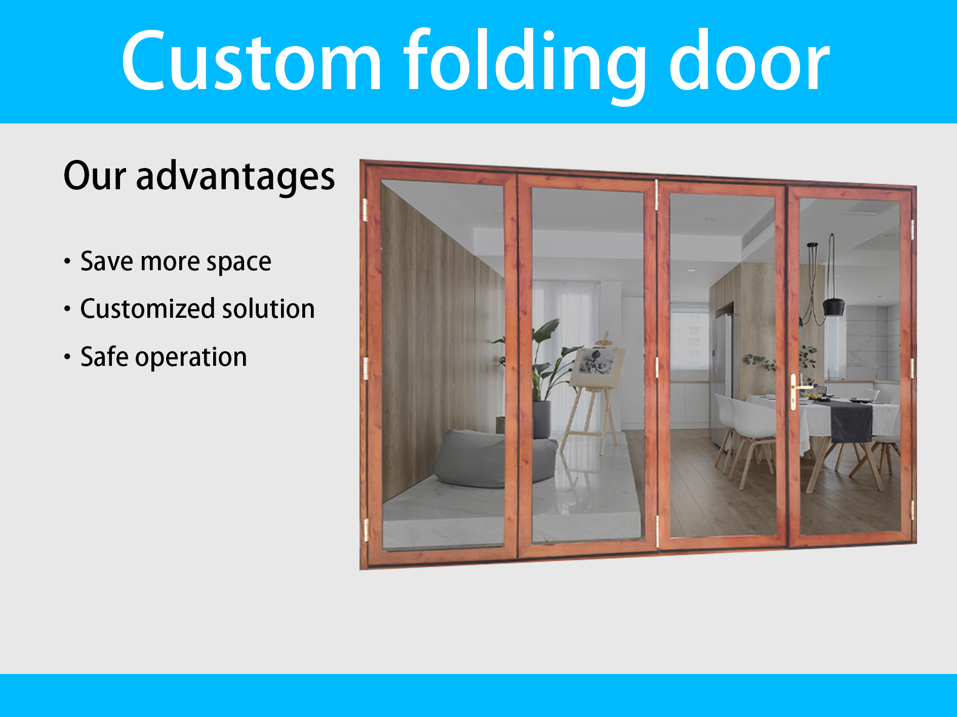 patio sliding large opening curve folding glass door cheap