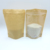 Matte Clear Window Craft Flat Bottom Ziplock Stand up Pouches/Coffee Food Packaging/Kraft Paper Packing Bag