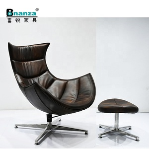 CH006 luxury modern armchair classic designs living room lounge chair with stainless base