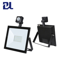 High quality smd aluminum ip65 waterproof 10w 20w 30w 50w 100w led flood light with PIR sense