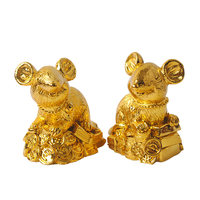 Golden Color Figurine Garden Statue 2020 Wholesale Christmas Gift Rat