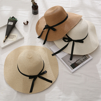 2020 Wholesale New Design Straw Hats Natural Summer Floppy Straw Hats Beach Straw Hat for Women