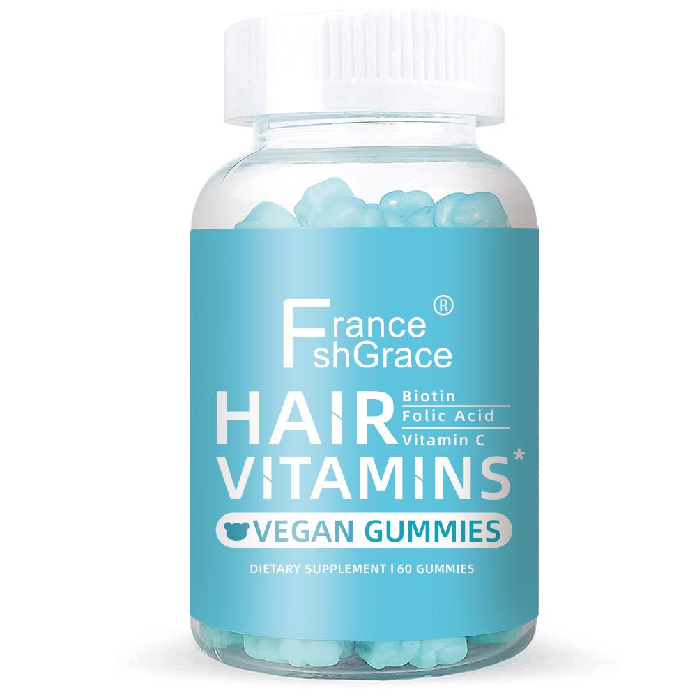 유기농 헤어 제품 채식 헤어 Grownth 스킨 Gummie 콜라겐 비오틴 Gummies