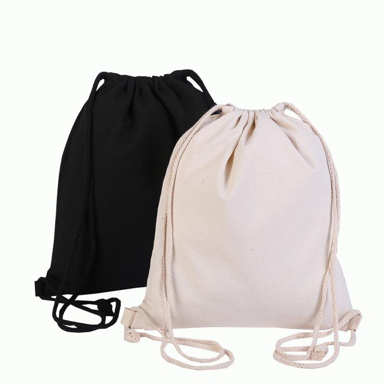 Promotion Mini Natural Packaging Cosmetic Storage Cotton Drawstring Bag