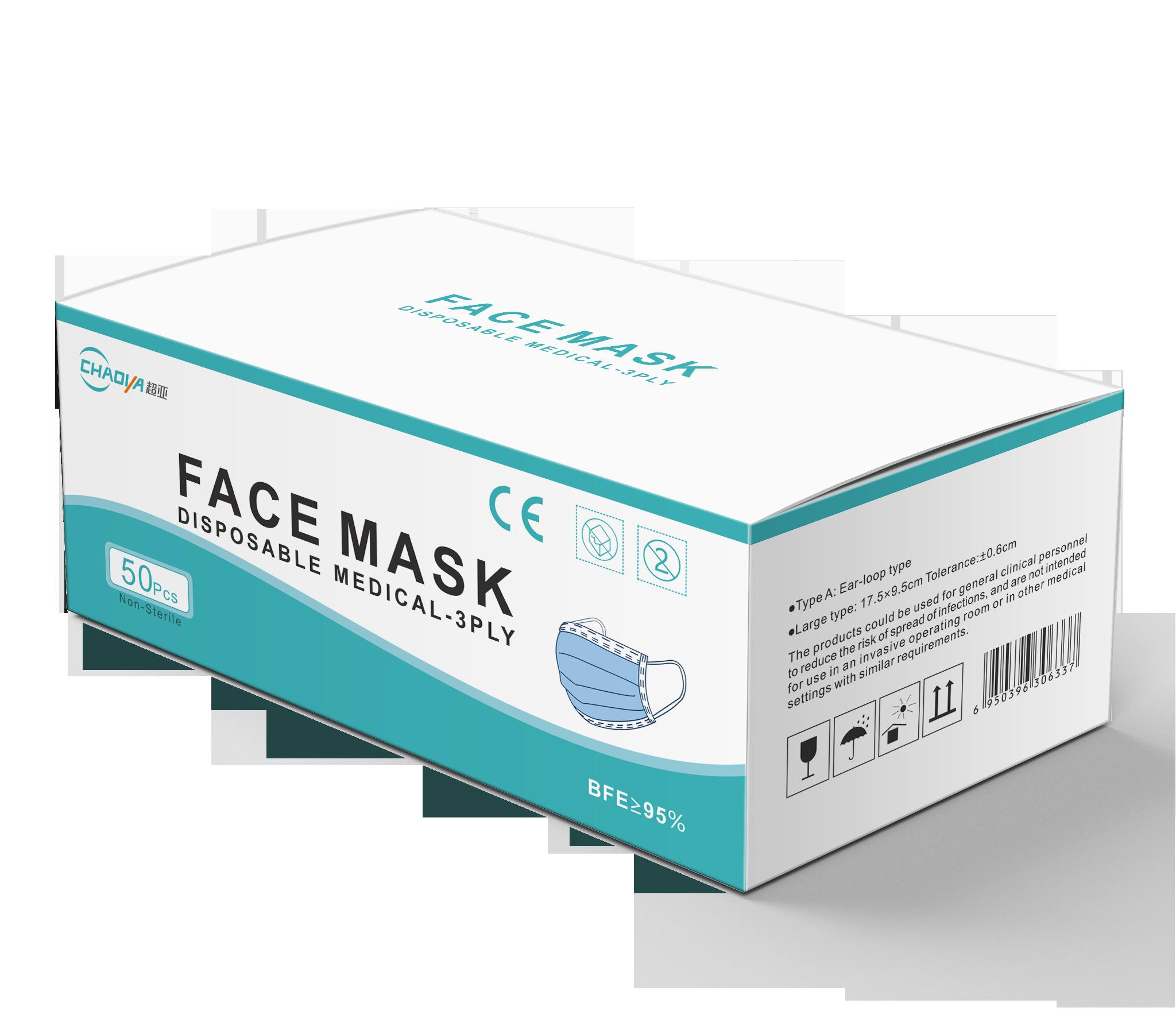 Quick ship enough stock 3 ply Eco-friend personal care disposable non-woven disposable medical mask