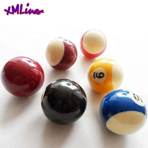 xmlivet 57.25mm=2 1/4inch Billiards Pool cue balls Resin colorful durable 57.25mm Nine-Ball Cue Balls Billiards accessories