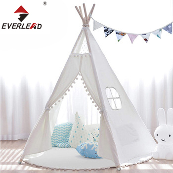 High Quality luxury Portable Wholesale Indoor Party White Play Indian Kids Teepee Tent