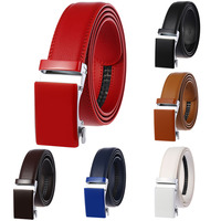 Best Selling Custom Logo Colorful Automatic Buckle Genuine Leather Belts