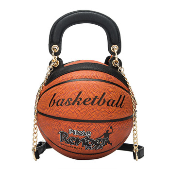 Fashion 2020 wholesale purse and handbags new designer hand bag basketball shape shoulder round bag basketball bag