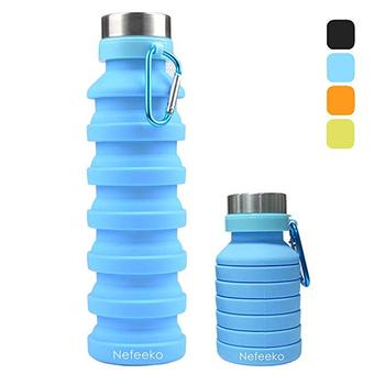 China Supplier Cheap 500ml Plastic Flexible Collapsible Foldable Water Bottle