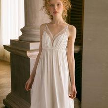 2020 Сексуальная сорочка на бретельках, элегантная Летняя женская домашняя одежда, ночное белье, кружевное ночное белье, T491(Китай)