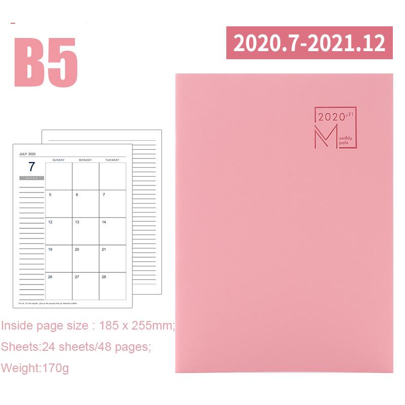 2020 год календарь ежемесячный планировщик месяцев Дневник кожаный персональный ноутбук планировщик повестки дня Органайзер Бизнес Офис Ка...(Китай)