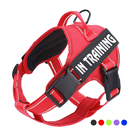 Wholesale High Quality Outdoor Reflective adjustable Mesh Oxford No Pull Custom Small Large Soft pet Service dog harness