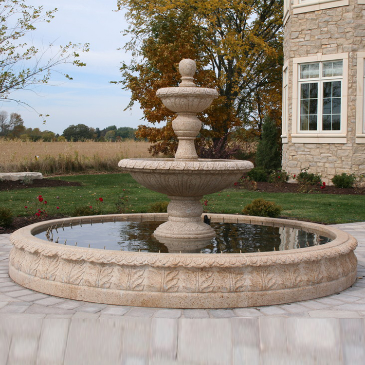 Outdoor Stone Garden Products Marble Water Fountain Sale View