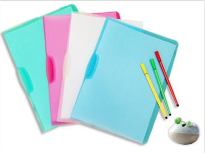 New Design A4 PP School Document Folder Swing Clip File Folder