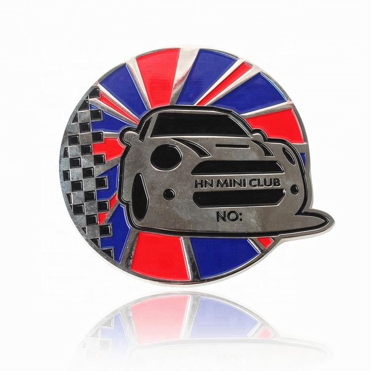 Ambachten Maker Ontwerp Custom Made Metal 3D Auto Badges Emblemen met Logo