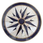 Nautical Compass Rose Star Marble Floor Medallion,Waterjet Marble Medallion,Marble Medallion