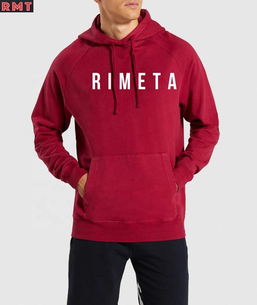 High Quality  Eco-friendly Custom Street Style French Terry Men track Hoodies Sweatshirts