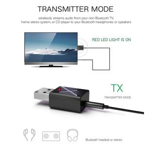 2 in 1 Bluetooth 5.0 Transmitter Receiver 3.5mm Aux A2DP, AVRCP Wireless Stereo Audio Adapter for PC TV/Headphones