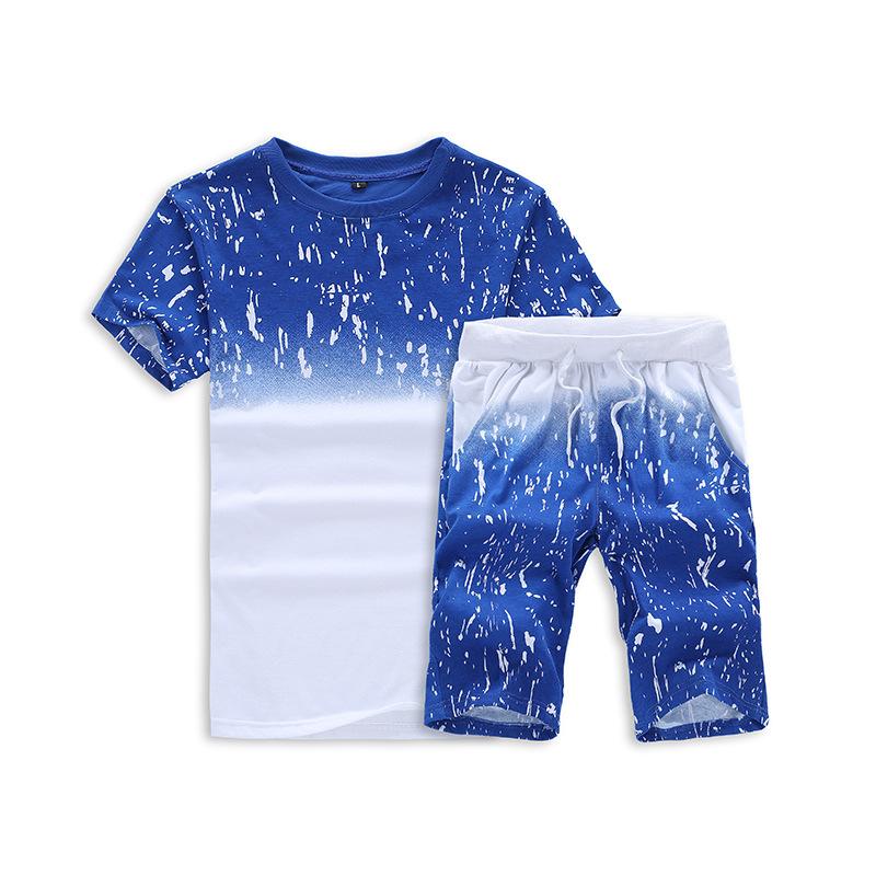 En gros Personnalisé Nouvelle Mode Été Jogging Hommes Manches Courtes T-shirt Et Shorts Ensemble De Course Piste Costume De Sport Pour Hommes surdimensionné