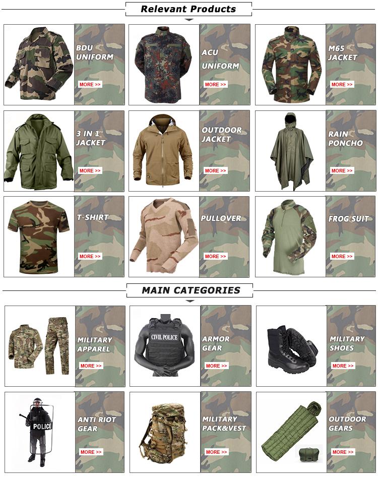 US Custom  Military uniform standard cp camouflage multicam uniform for TDU ACU BDU