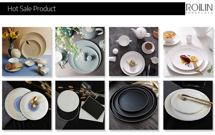 New Design Wholesale Colored Chinaware for Hotel and Restaurant