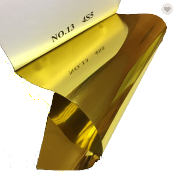 Hot Sale <strong>PVC</strong>/PET Gold Metallized Decorative Film