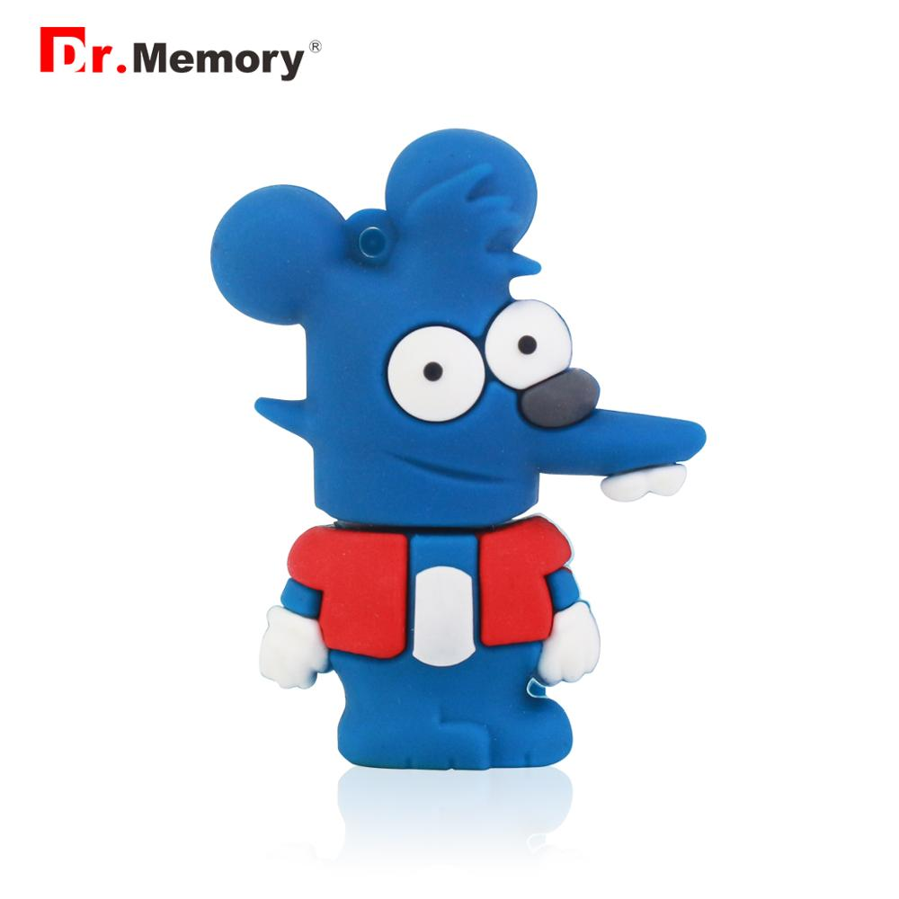 Hohe Geschwindigkeit USB 3.0 Simpson Maus Form Usb-Sticks 16GB 32GB 64GB 128GB Sticks Usb stick