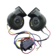 Universal 12V Motorcycle Electric Horn Multi-tone Snail Horn Speaker