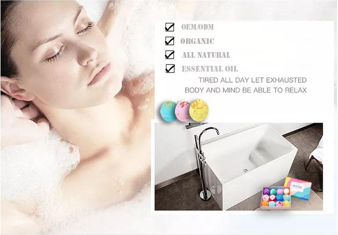 OEM Amazon Hot Sale Pure CBD Hemp Oil Bulk Bath Bomb With Jewelry Luxury Spa Fizzer Surprised Gift Set For Lady