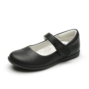 Children black leather Mary Jane school girls  shoes for kids