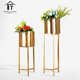Modern metal big size tall gold flower stand set home decor living room wrought iron plant holder Europe large floor vase
