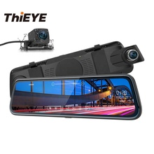 ThiEYE CarView 2 10 inç çift Lens Full HD 1080P 720P ayna <span class=keywords><strong>dikiz</strong></span> Video kaydedici Registratory <span class=keywords><strong>kamera</strong></span> araba dvr'ı <span class=keywords><strong>kamera</strong></span>
