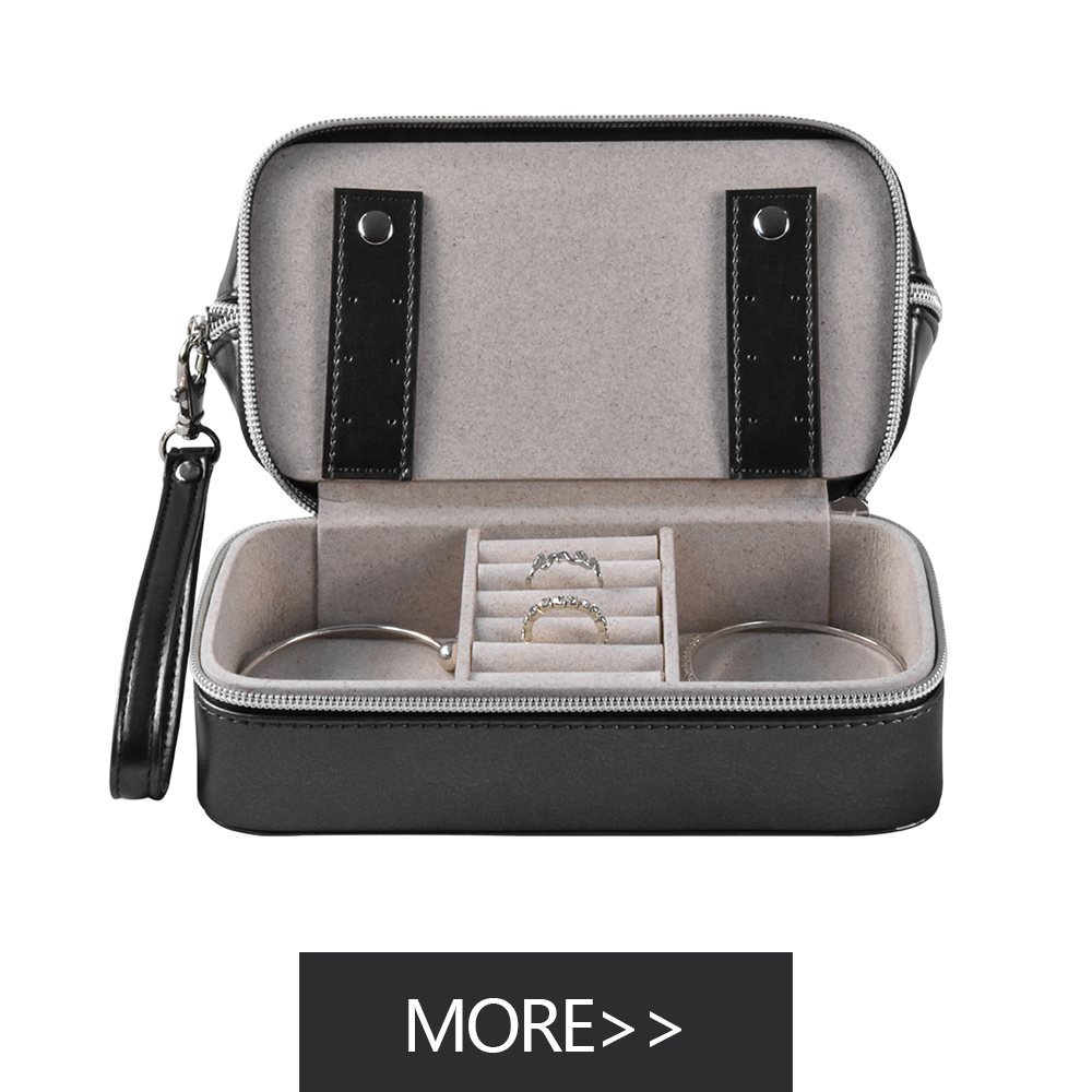 High-end leather cosmetic packaging luxury simple cosmetic bag with velvet cosmetic bag for travel cosmetic storage bag