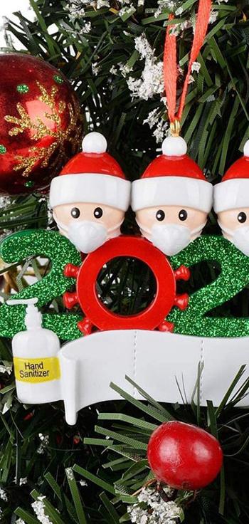 אמזון מכירה לוהטת לכתיבה צלמית הסגר משפחה שרף אישית 2020 עץ חג מולד קישוטים