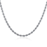 4mm Latest High Polished Twist Rope Designs Stainless Steel Chain Jewelry To Make Necklace