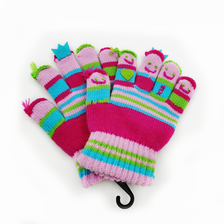 New cute finger pattern finger glove multicolor mix match customizable color LOGO