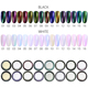 Norkko nail Aurora pigment powder Chameleon, Neon, Rainbow, Chrome Mirror pigment wholesale