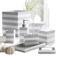 Resin kitchen accessories set bath accessories  bath tray for Home and Hotel