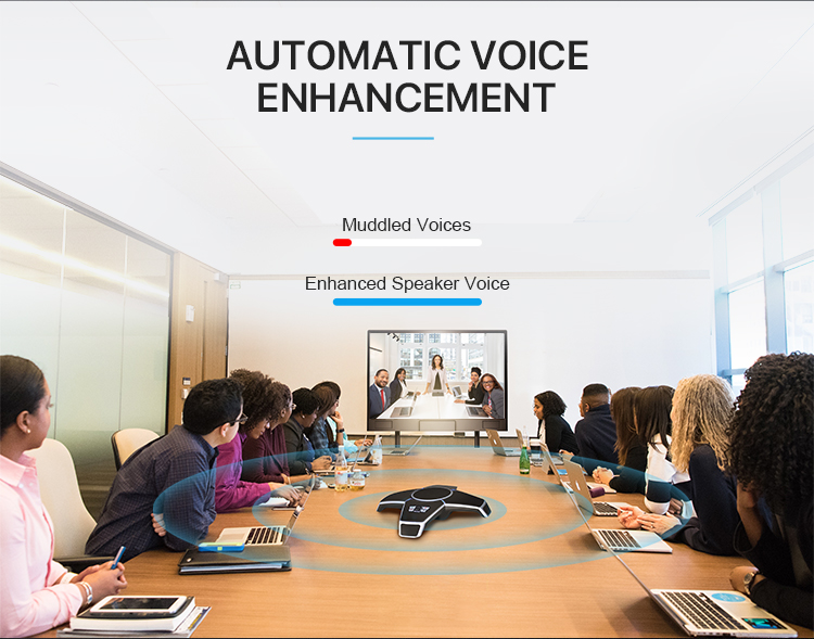 Audio System Professional 4 Microphone Array Speaker for 20 Participants Conference Room
