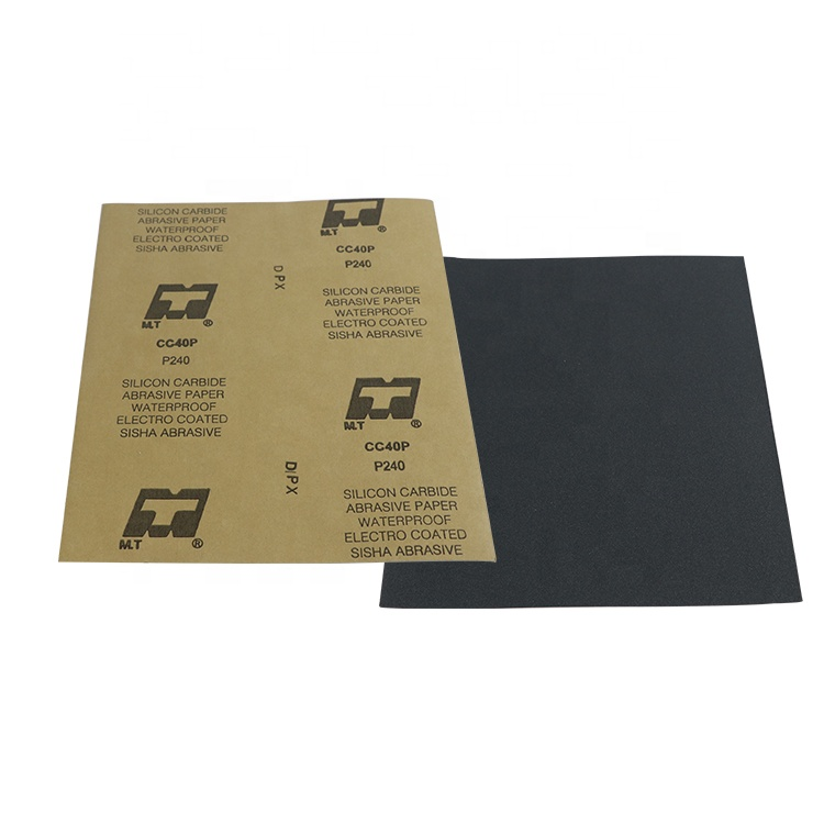 """ISO 9001 audited 9""""x11"""" Silicon Carbide waterproof kraft paper Abrasive Paper"""